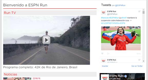 ESPN RUN Maratona do RIo 2016 print screen 22062016