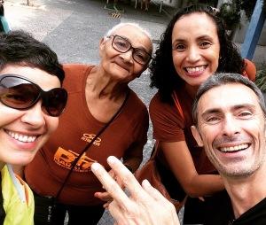 Nós e ela D. Lindalva Figueiredo futura maratonista e a sua filha Claudia Figueiredo