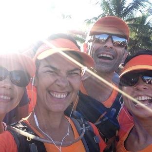 Deiseane, nós e Malu na sua primeira Maratona