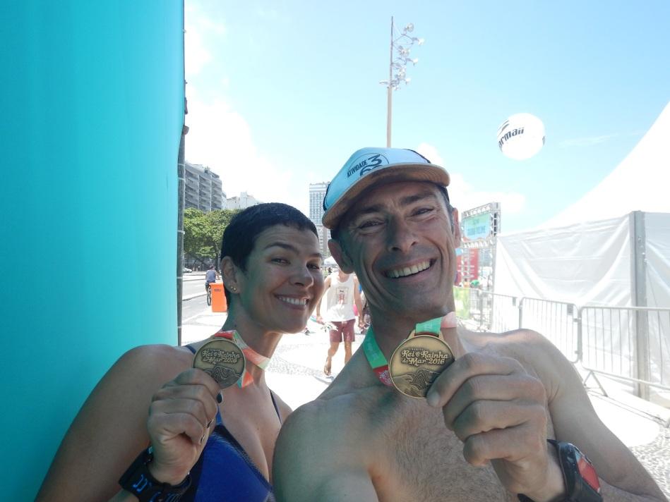 Medalha 10k Natação no Mar no Rei e Rainha do Mar